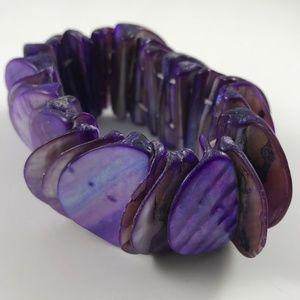 Stunning Vintage Abalone Purple Bracelet, Abalone